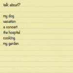 Gardening Topic List