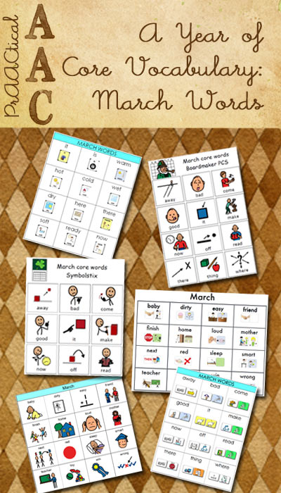 Resources for A Year of Core Vocabulary: March Words