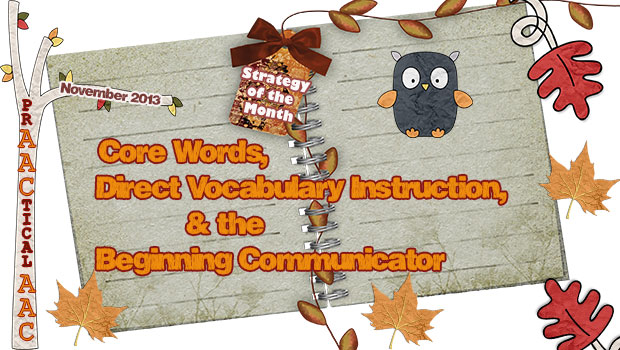 Vocabulary Instruction & the Beginning Communicator