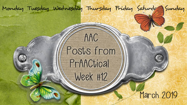 AAC Posts from PrAACtical Week #12: March 2019
