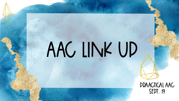 Decorative image reading AAC Link Up - September 24